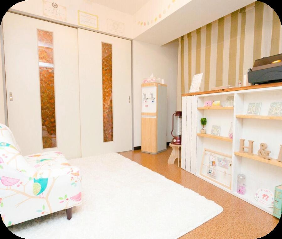 Hanakoto整体院の待合室の様子