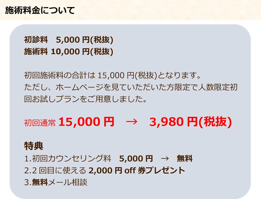 腰痛LP お試し価格(3980円)